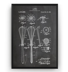 Egg Beater Whisk 1922 Patent Print - Magic Posters