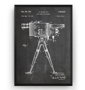 High-Speed Grid Camera 1953 Patent Print - Magic Posters