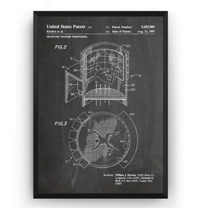 Skydiving Trainer Wind Tunnel 1997 Patent Print - Magic Posters