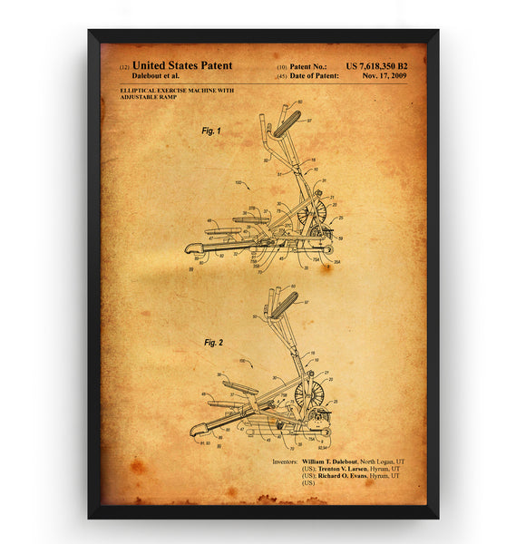 Elliptical Exercise Machine 2009 Patent Print - Magic Posters