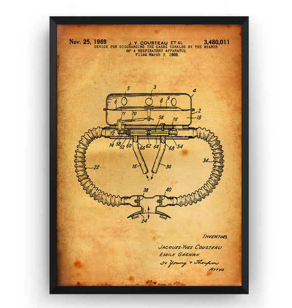Device for Discharging Gases 1969 Patent Print - Magic Posters