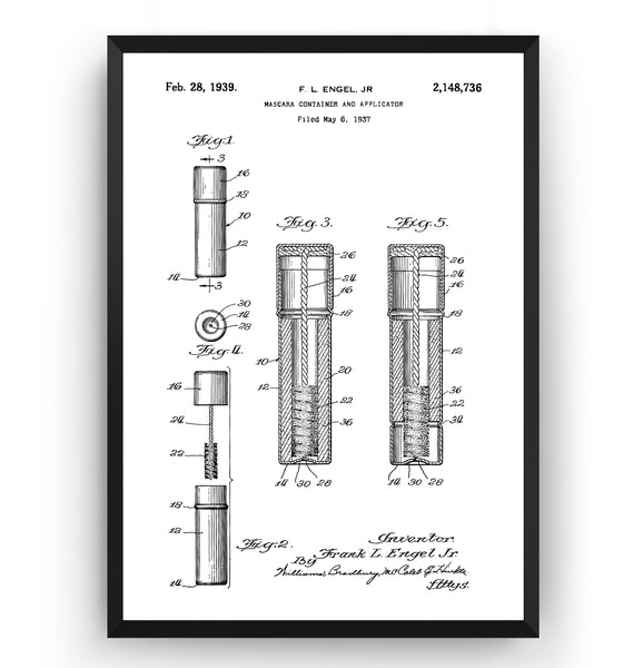 Mascara 1939 Patent Print - Magic Posters