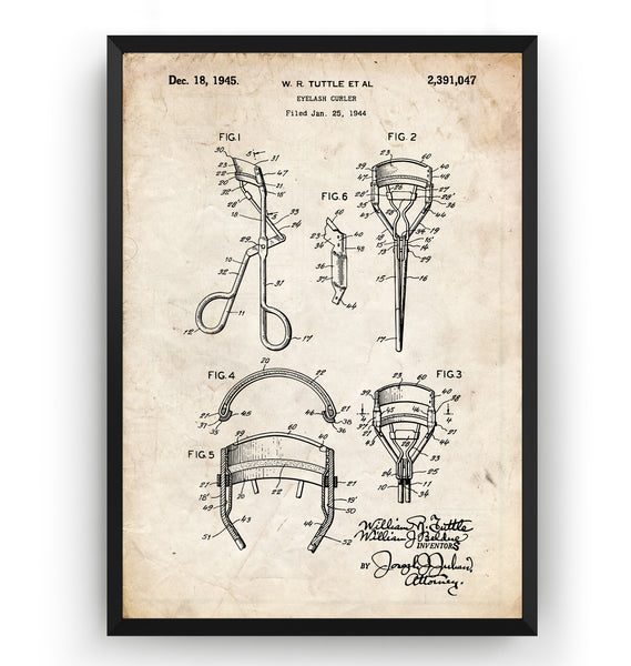 Eyelash Curler 1945 Patent Print - Magic Posters