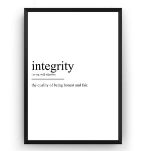 Integrity Definition Print - Magic Posters