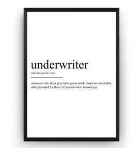 Underwriter Definition Print - Magic Posters