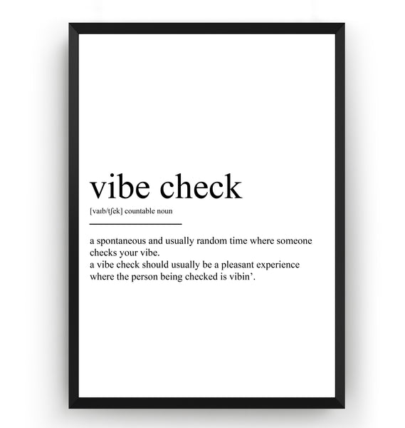 Vibe Check Definition Print - Magic Posters