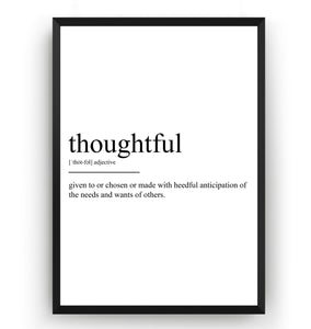 Thoughtful Definition Print - Magic Posters