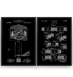 Broadway Musical Theatre Set Of 2 Patent Prints - Magic Posters