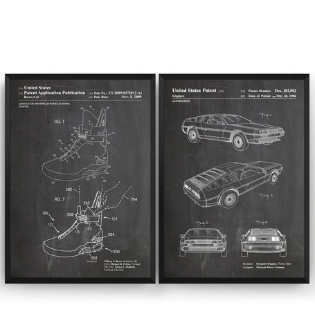 Back To The Future Set Of 2 Patent Prints - Magic Posters