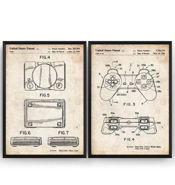 Playstation Set Of 2 Patent Prints - Magic Posters