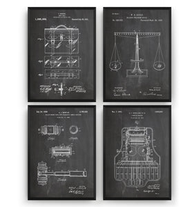 Courtroom Set Of 4 Patent Prints
