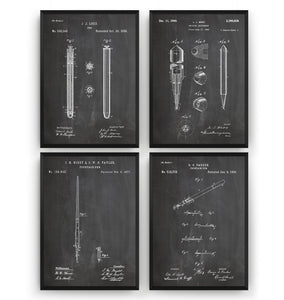 Pen Set Of 4 Patent Prints