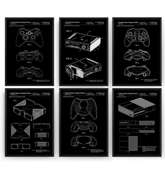 Ultimate Xbox Set Of 6 Patent Prints - Magic Posters