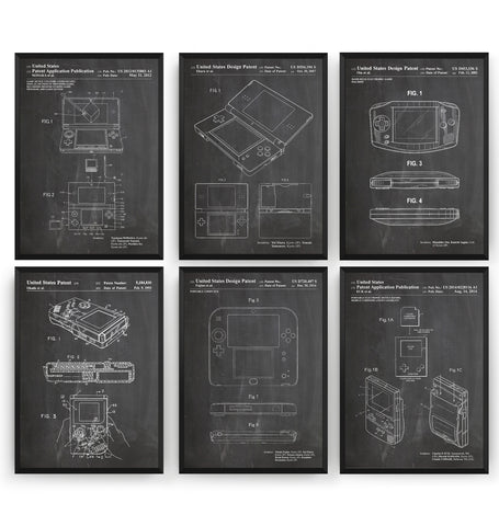 Nintendo Handheld Set Of 6 Patent Prints - Magic Posters