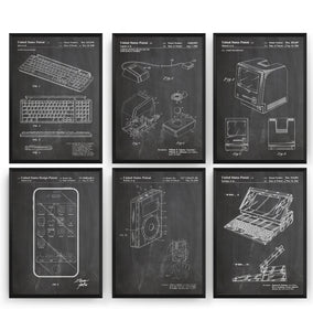 Steve Jobs Invention Set Of 6 Patent Prints - Magic Posters