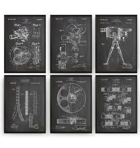 Film And Movie Set Of 6 Patent Prints - Magic Posters