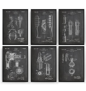 Beauty Set Of 6 Patent Prints - Magic Posters
