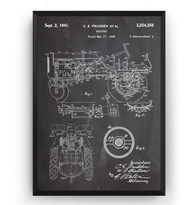 Allis-Chalmers Tractor 1941 Patent Print - Magic Posters