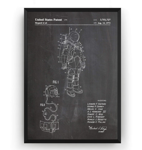 Apollo Space Suit Patent Print - Magic Posters
