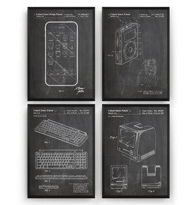 Apple Set Of 4 Patent Prints - Magic Posters