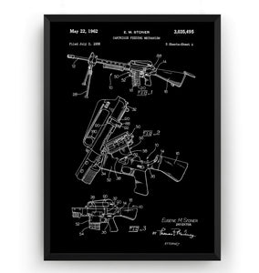 AR-15 1962 Patent Print - Magic Posters