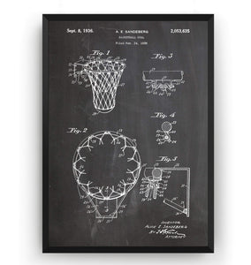 Basketball Hoop 1936 Patent Print - Magic Posters
