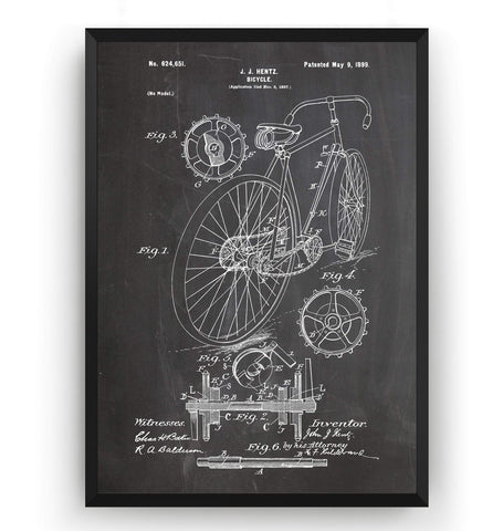 Bicycle Patent Print - Magic Posters