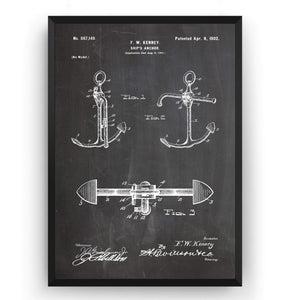 Boat Anchor 1902 Patent Print - Magic Posters