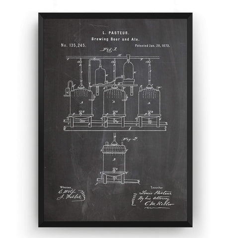 Brewing Beer And Ale Patent Print - Magic Posters