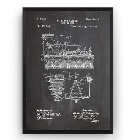 Brewing Beer Patent Print - Magic Posters