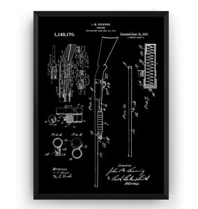 Browning Shotgun 1915 Patent Print - Magic Posters