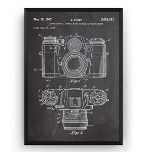 Camera 1962 Patent Print - Magic Posters