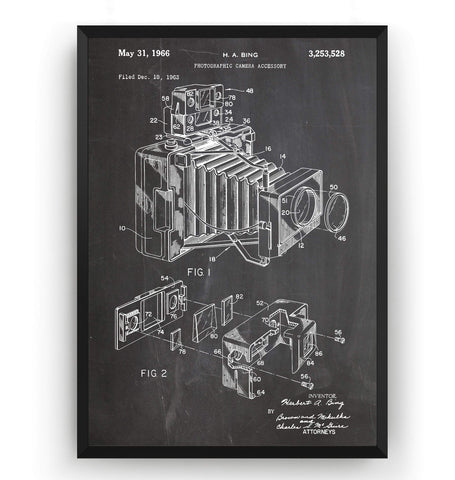 Camera Accessory 1966 Patent Print - Magic Posters
