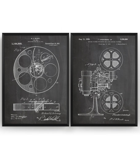 Cinema Set Of 2 Patent Prints - Magic Posters