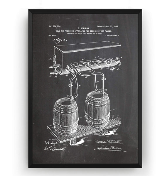 Cold Air Pressure Apparatus For Beer Brewing Patent Print - Magic Posters