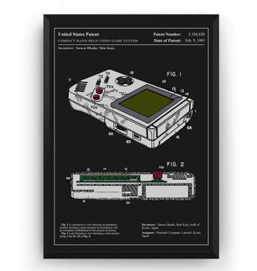 Colourised Game Boy Patent Print - Magic Posters