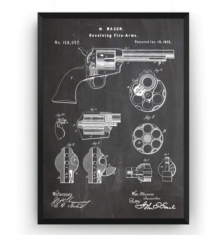 Colt Peacemaker 1875 Patent Print - Magic Posters
