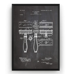 Double Edge Razor Patent Print - Magic Posters