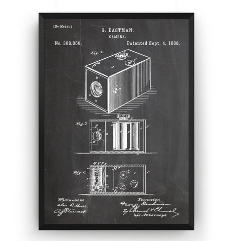 Eastman Kodak Camera 1888 Patent Print - Magic Posters