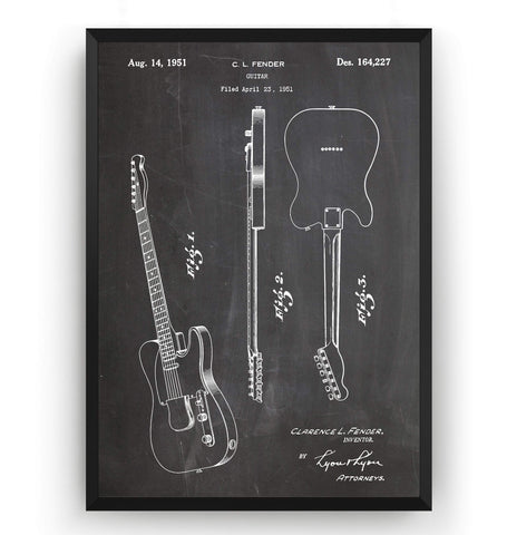 Fender Telecaster 1951 Guitar Patent Print - Magic Posters