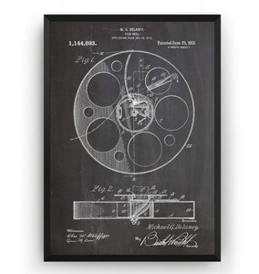 Film Reel 1915 Patent Print - Magic Posters
