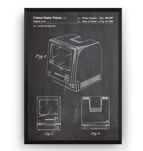 First Macintosh Computer Patent Print - Magic Posters