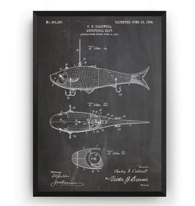 Fishing Artificial Bait Patent Print - Magic Posters