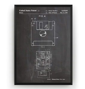Floppy Disk Patent Print - Magic Posters