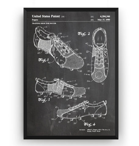 Football Boots Patent Print - Magic Posters