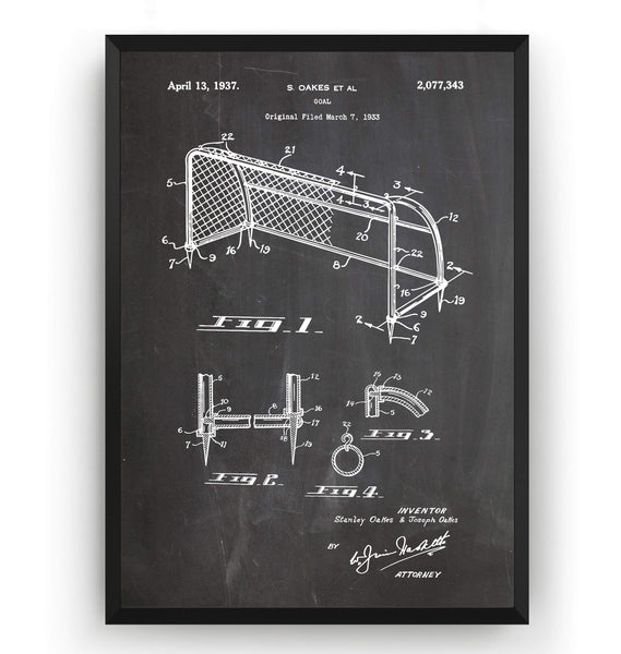 Football Goal Patent Print - Magic Posters