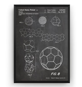 Football Making Method Patent Print - Magic Posters