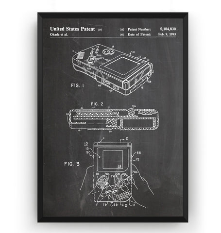 Game Boy Patent Print - Magic Posters