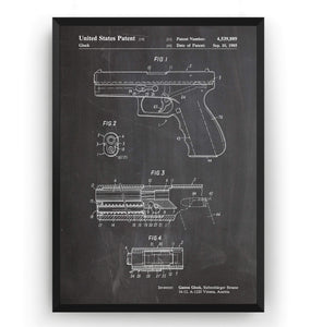 Glock 1985 Patent Print - Magic Posters