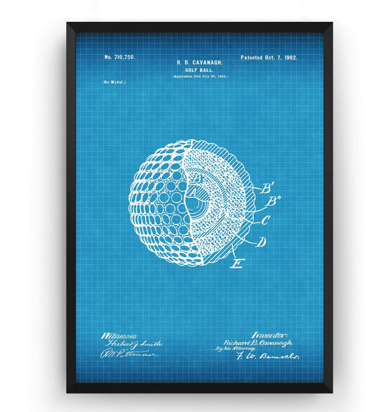 Golf Ball Patent Print - Magic Posters